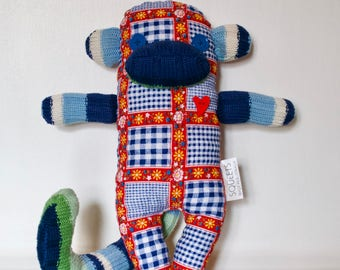 SQUEETS craft Funky Monkey 'Eddy' handmade unique softie