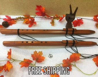 """Native American Style Flute, Wood Flute, """"F#"""" flute, """"A"""" flute, Cedar Flute, Handmade Flute, Native Flute"""