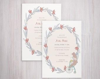 Christening Printable Invitation Card - Baptism Invitation - Confirmation Invitation - Baby Blessing - Baby Naming Ceremony Invitation