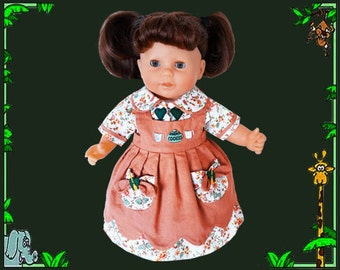 14 inch baby doll dress, Corolle 14 in baby doll, Corolle Classique Baby Doll, Corolle doll dress, Corolle doll clothes, baby doll dress