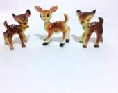 Fawn Deer Ceramic Salt & Pepper Shaker and Toothpick Holder Set bambi