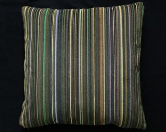 "Paul Smith ""Epingle Stripe Olive"" - Maharam - modern accent Pillow -  17"" X 17"" Corduroy"