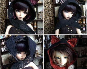 Animal Ear Hooded Muffler (Cat/Bunny)