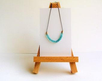 Blue apatite silk bracelet made in Italy | minimalist jewelry | dainty layering bracelet | friendship bracelet |  gemstone