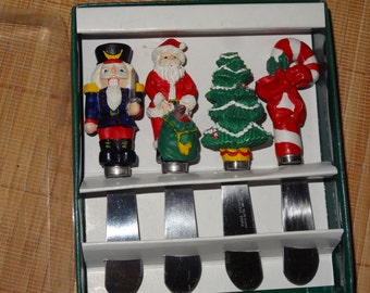 Christmas Cheese Knives / Christmas Spreaders / Christmas Butter Knives /  Cheese Spreaders