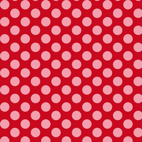 Dear Heart Polka Dot Fabric