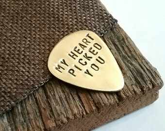 Wedding Guitar Pick Wedding Day Gift for Husband My Heart Picked You Long Distance Love Gift for Boyfriend Military Gift Personalized Man