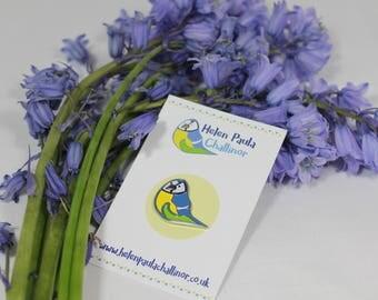 Blue Tit Bird - Soft Enamel Lapel Pin