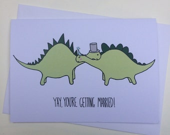 Yay, You're Getting Married - Engagement Card