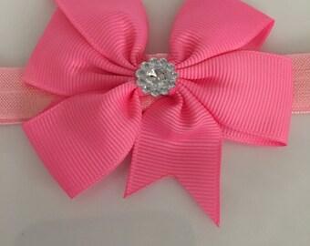 PINK Bow Headband w/ Embellishment