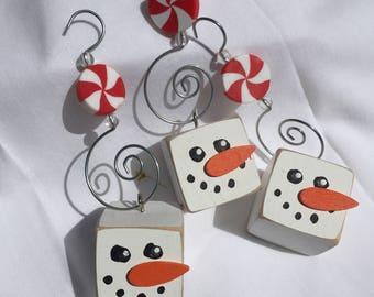 Snowman Ornaments (set of 3)