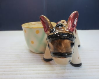 Colorful Donkey Planter - Made In Occupied Japan - Hand Painted
