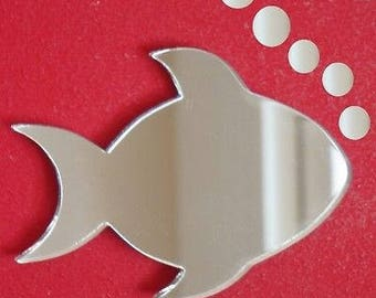 Fish and Bubbles Mirror - 5 Sizes Available