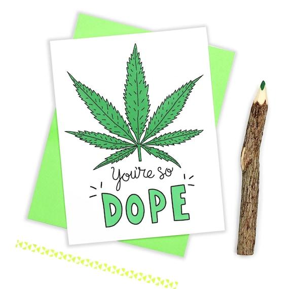 Weed Birthday Card Marijuana Card Stoner Card Cannabis