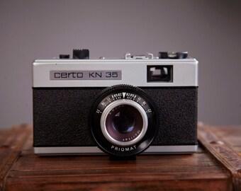 Vintage Film Camera Certo KN 35. Film camera Certo. Camera for lomography. Working Film Camera.