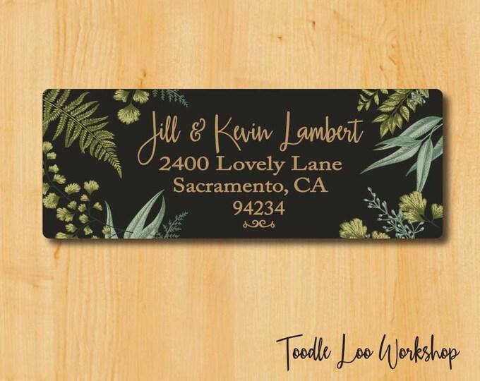 Botanical Address Labels | Return Address Label | Custom Address Label | Gift for her | Gift for Mom | gift for Sister