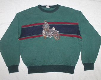 Vintage Dolce Sweatshirt Embroidered Harley Motorcycle