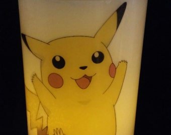 Pikachu Hurricane Photo Candle