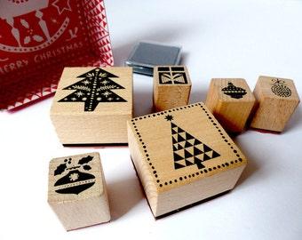 Stamp set Christmas Christmas trees Christmas tree