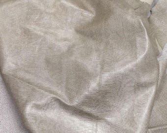EMB16 Leather Cow Hide Cowhide Craft Fabric Ivory White Embossed Lizard 28 sf FREE SHIPPING