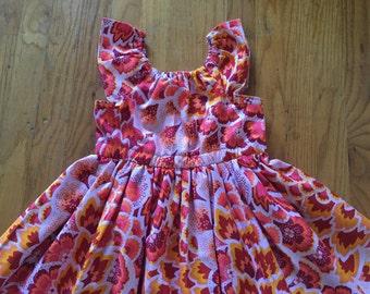 Girls Fall/Thanksgiving dress, toddler holiday dress
