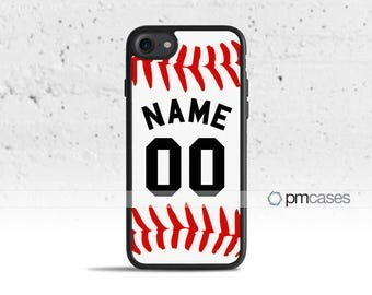 Personalized Baseball Case Cover for Apple iPod Touch & iPhone 4/4s/5/5s/5c/6/6s/7/Plus/SE