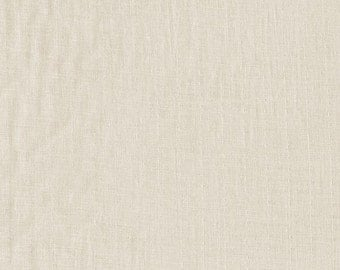 BeSpoke NATURAL Cream Solid Double Gauze Lightweight Cotton and Steel Fabric BTY