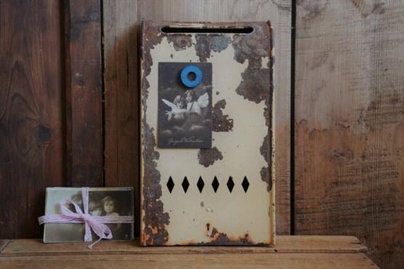Wall Decor Mailbox : Vintage mailbox wall metal