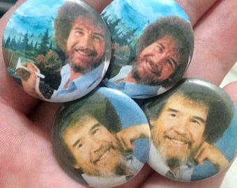 bob ross badges