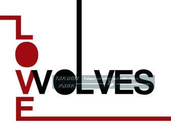 Minimalist wolf etsy for Art minimaliste citation