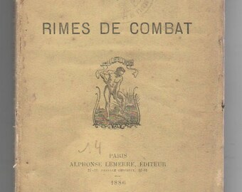"Very rare 1st edition Charles Grandmougin  ""Rimes de combat"" 1886  Poetry"