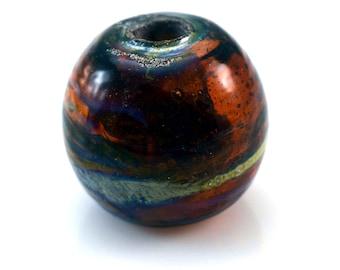 Deep Port Handmade Glass Lampwork Bead