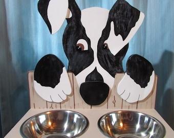 Support for medium dog wooden bowls