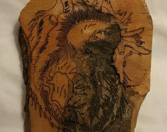 Laser Art - Heart of a Tree - Original Art