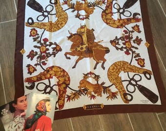 Vintage Hermes Scarf and 2 Hermes how to wear your scarf books.