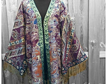 Handmade Pashmina Kimono  *Majestic Purple* Boho One Size
