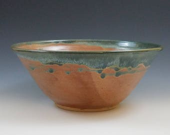 Serving Bowl in Brown and Teal (Mountain Brook)