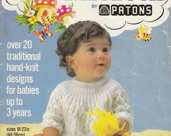 """223 Patons Fairytale Baby Knit & Crochet Book 0-3years 18-22"""" 46-56cm"""