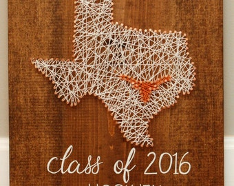 Texas string art etsy texas longhorn texas string art nail art teacher gift graduation gift prinsesfo Image collections