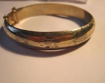 vintage bangle bracelet...sterling.........