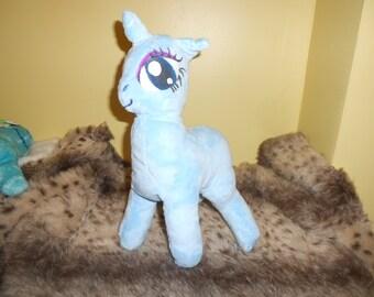 Light blue Girly Unicorn My Little Pony Base Plush for Customization