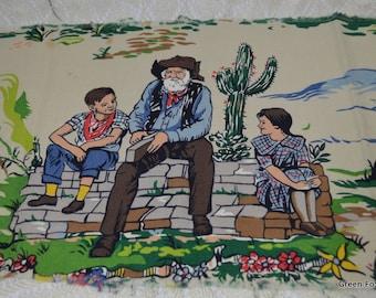 Gabby Hayes Vintage Fabric Piece