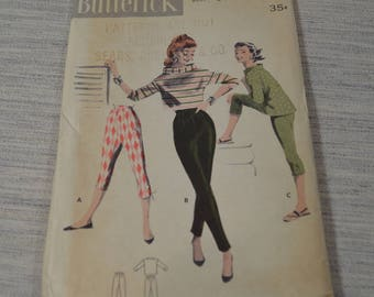 Vintage Butterick Top and Tapered Pant Pattern 7557