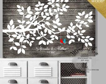 Wood Guest Book - Wedding Guest Book Alternative - Wedding Signs - Rustic Bridal Shower Gift - Guest Book Wedding Gift - Wedding Tree Poster
