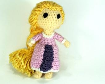 Rapunzel from Tangled Disney Princess Amigurumi Yarn Crochet Doll