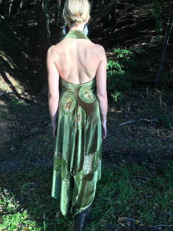 Velvet Veluna tango dress - chartreuse