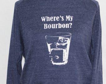 Bourbon Raglan Dolman Tri Blue/Cream