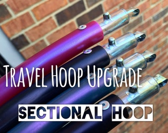 Upgrade Any Hoop to a Fully Collapsible Sectional Travel Hoop