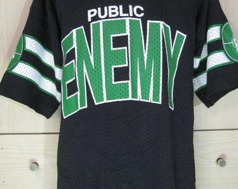 Vintage 1990s Public Enemy baseball jersey Tour Shirt Apocalypse 91 Target Logo mesh Hip Hop Rap Tee L Soft Tee Rare Rapp style