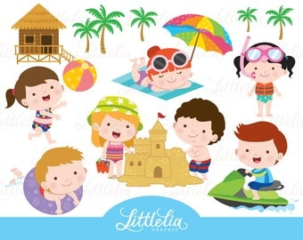 Summer beach clipart - summer playground - 17024